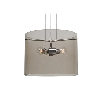 Pahu 3-Light Mini Pendant Finish: Satin Nickel, Size: 11.75 H x 15.75 W x 15.75 D