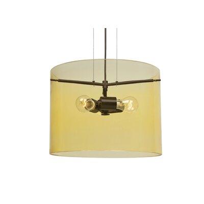 Pahu 3-Light Mini Pendant Finish: Brushed Bronze, Size: 11.75 H x 15.75 W x 15.75 D, Shade Color: Gold