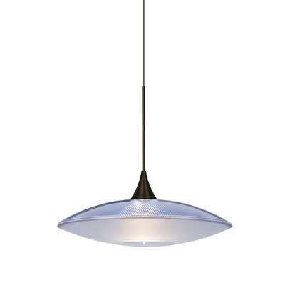 Spazio 1-Light Cord  Mini Pendant Finish: Bronze, Shade Color: Blue