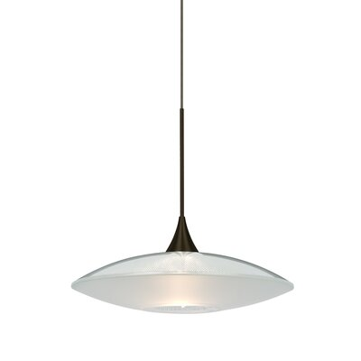 Spazio 1-Light Cord  Mini Pendant Finish: Bronze, Shade Color: Gold