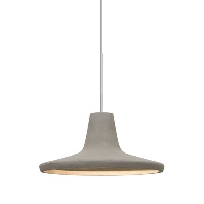Modus 1-Light Cord Inverted Pendant Finish: Satin Nickel, Shade Color: Tan