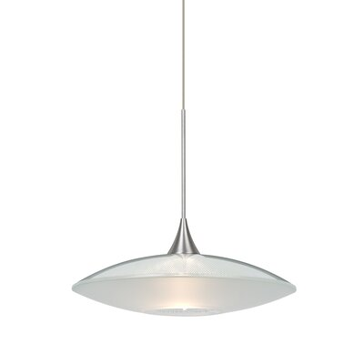 Spazio 1-Light Cord  Mini Pendant Finish: Satin Nickel, Shade Color: Clear