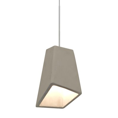 Skip 1-Light Cord Mini Pendant Finish: Satin Nickel, Shade Color: Tan