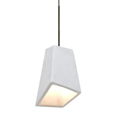 Skip 1-Light Cord Mini Pendant Finish: Satin Nickel, Shade Color: White