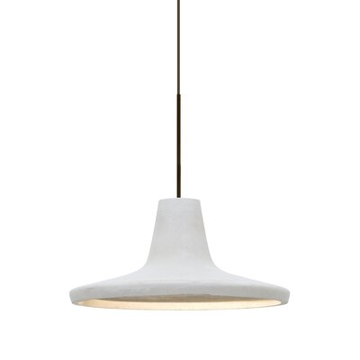 Modus 1-Light Cord Inverted Pendant Finish: Satin Nickel, Shade Color: White
