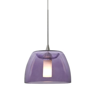 Spur 1-Light Cord Mini Pendant Finish: Satin Nickel, Shade Color: Plum