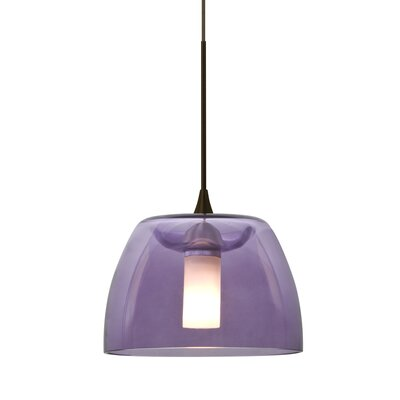 Spur 1-Light Cord Mini Pendant Finish: Bronze, Shade Color: Blue
