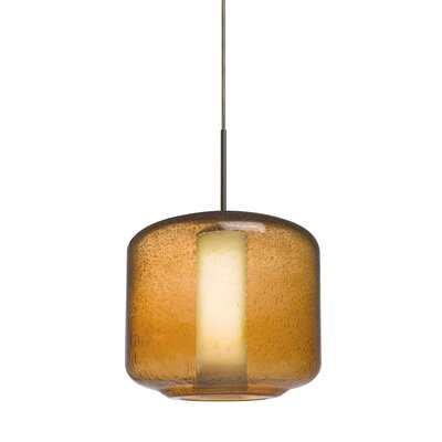 Spero 1-Light Cord Mini Pendant Finish: Bronze, Shade Color: Amber