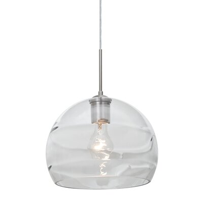 Spirit 1-Light Cord Globe Pendant Finish: Satin Nickel, Shade Color: Clear