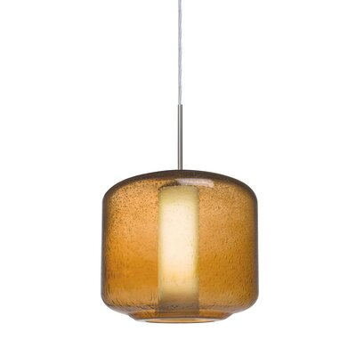 Spero 1-Light Cord Mini Pendant Finish: Satin Nickel, Shade Color: Amber