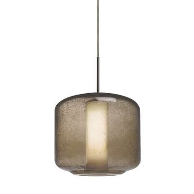 Spero 1-Light Cord Mini Pendant Finish: Bronze, Shade Color: Smoke
