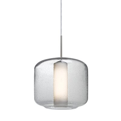 Spero 1-Light Cord Mini Pendant Shade Color: Clear, Finish: Satin Nickel
