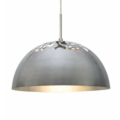 Gordy 1-Light Cord Bowl Pendant Shade Color: Satin Nickel