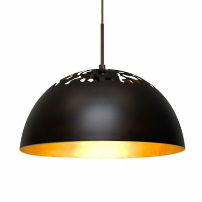 Gordy 1-Light Cord Bowl Pendant Shade Color: Bronze