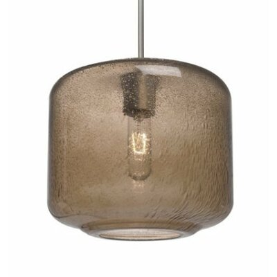 Spero 1-Light Cord Mini Pendant Finish: Satin Nickel, Shade Color: Smoke