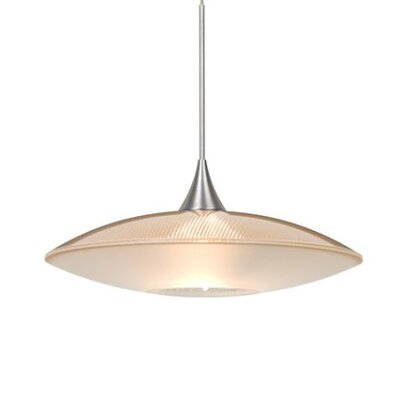 Spazio 1-Light Cord  Mini Pendant Finish: Satin Nickel, Shade Color: Gold