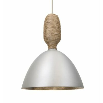 Creed 1-Light Cord Mini Pendant Shade Color: Satin Nickel