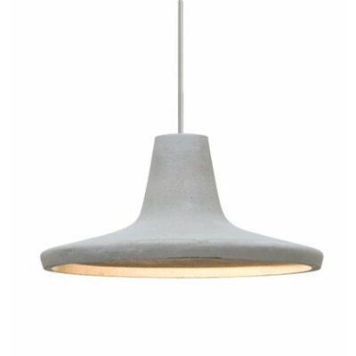 Modus 1-Light Cord Mini Pendant Shade Color: Natural, Finish: Satin Nickel