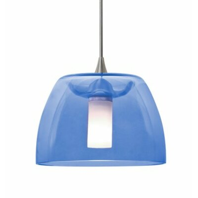 Spur 1-Light Cord Mini Pendant Finish: Satin Nickel, Shade Color: Blue