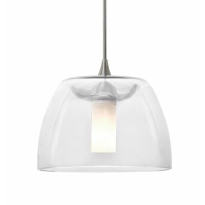 Spur 1-Light Cord Mini Pendant Finish: Satin Nickel, Shade Color: Clear