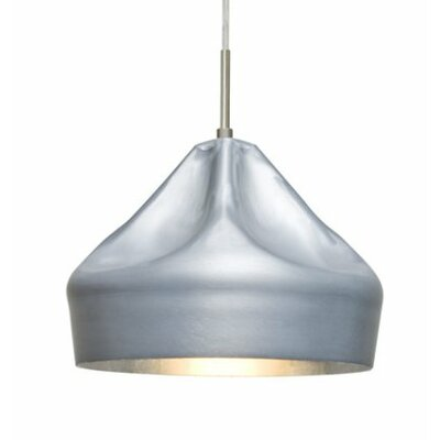 Lotus 1-Light Cord Mini Pendant Shade Color: Satin Nickel
