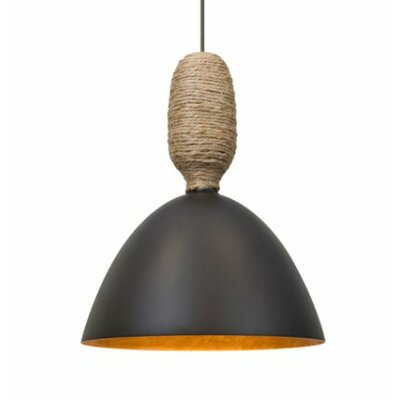 Creed 1-Light Cord Mini Pendant Shade Color: Bronze