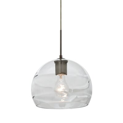 Spirit 1-Light Cord Globe Pendant Finish: Bronze, Shade Color: Clear/Smoke
