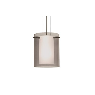 Pahu 1-Light Mini Pendant Finish: Brushed Bronze, Shade Color: Smoke, Size: 9.88 H x 7.88 W x 7.88 D