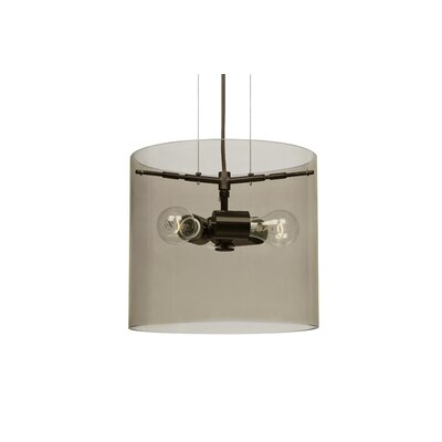Pahu 3-Light Mini Pendant Finish: Brushed Bronze, Size: 10.63 H x 11.75 W x 11.75 D