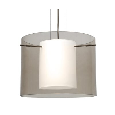 Pahu 1-Light Mini Pendant Finish: Brushed Bronze, Shade Color: Smoke, Size: 11.75 H x 15.75 W x 15.75 D