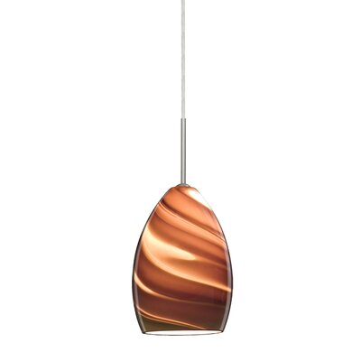 Euka 1-Light Mini Pendant Finish: Satin Nickel