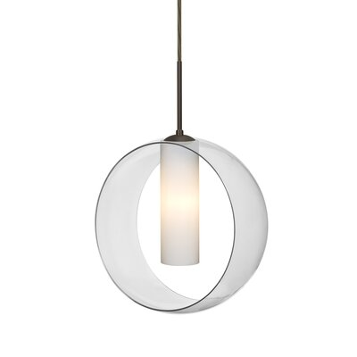 Anthony 1-Light LED Geometric Pendant Finish: Bronze, Shade Color: Clear