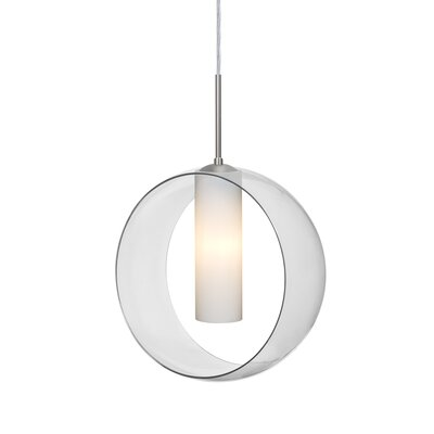 Anthony 1-Light Geometric Pendant Finish: Satin Nickel, Shade Color: Clear