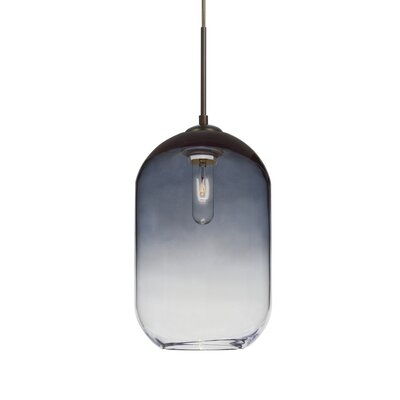 Joseph 1-Light Mini Pendant Shade Color: Steel, Finish: Bronze