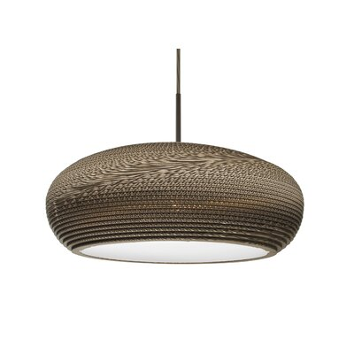Eric 1-Light LED Geometric Pendant Finish: Bronze