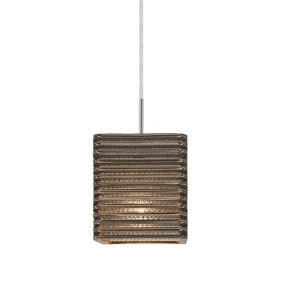 Mortola 1-Light LED Mini Pendant Finish: Satin Nickel
