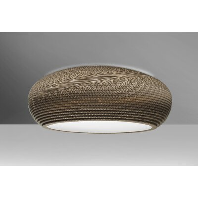 Eric 1-Light Flush Mount Finish: Bronze