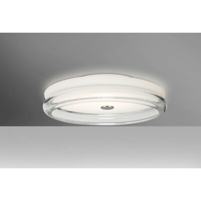 Arvilla 2-Light Flush Mount Shade Color: Clear, Bulb Type: LED