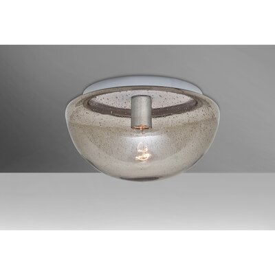 Donnie 1-Light Semi Flush Mount Shade Color: Smoke
