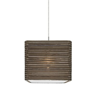 Mortola 1-Light Brass Mini Pendant Finish: Satin Nickel