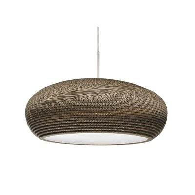 Eric 1-Light Geometric Pendant Finish: Satin Nickel