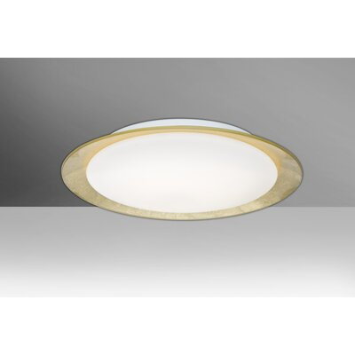Fidelia Handcrafted 1-Light LED Flush Mount Shade Color: Gold