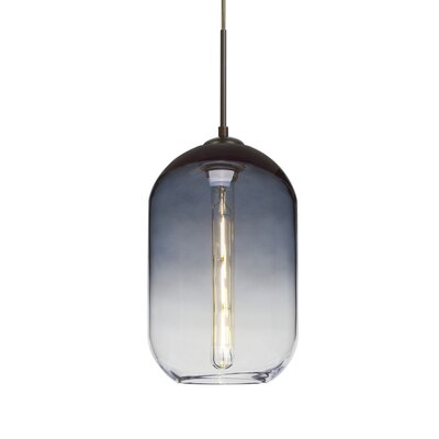 Joseph 1-Light LED Mini Pendant Finish: Bronze, Shade Color: Steel