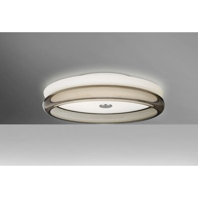 Arvilla 2-Light Flush Mount Shade Color: Smoke, Bulb Type: LED