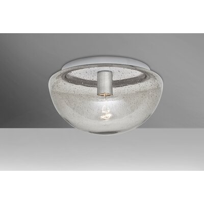 Donnie 1-Light Semi Flush Mount Shade Color: Clear