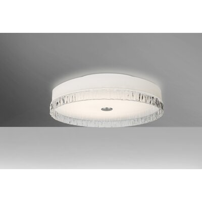 Camara 2-Light Flush Mount Shade Color: Smoke Stone, Bulb Type: LED