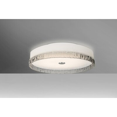 Camara 2-Light Flush Mount Shade Color: Clear Stone, Bulb Type: Halogen