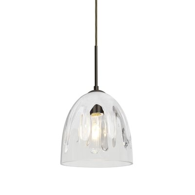 Brian 1-Light Mini Pendant Finish: Bronze, Shade Color: White