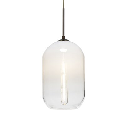 Joseph 1-Light Mini Pendant Finish: Bronze, Shade Color: White