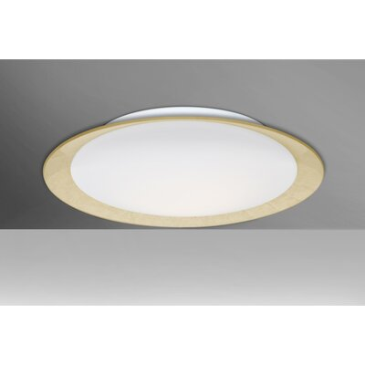 Fidelia 1-Light Aluminum LED Flush Mount Shade Color: Gold